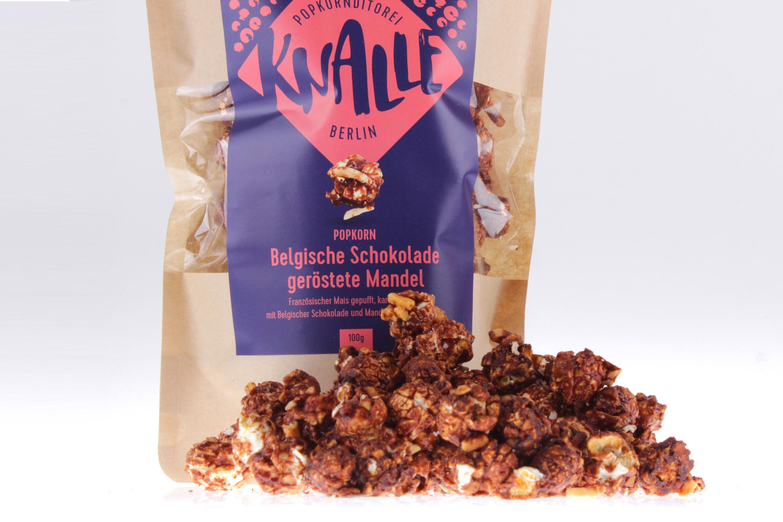Schokolade geröstete Mandel Popcorn von Knalle bei feinjemacht