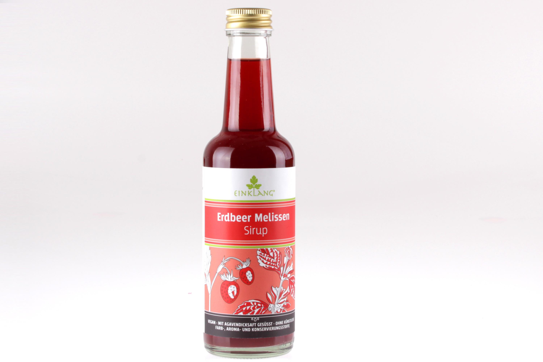 Erdbeer Melisse Fruchtsirup von feinjemacht