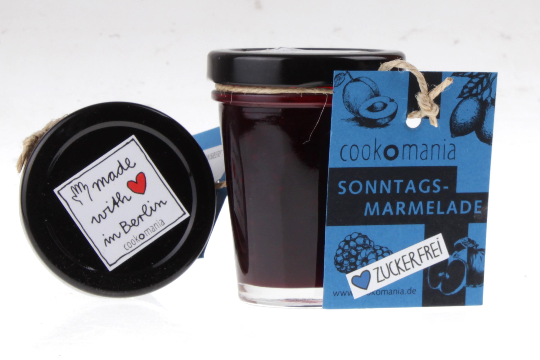 Schwarze Johannisbeere zuckerfreie Konfitüre von feinjemacht