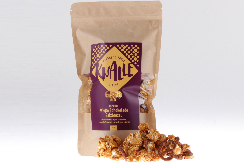 Weiße Schokolade Salzbrezel Popcorn von feinjemacht