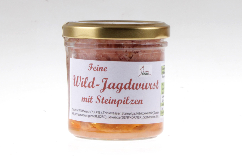 Wild-Jagdwurst mit Steinpilzen von feinjemacht