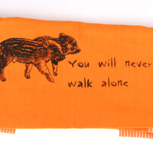 You will never walk alone Geschirrtuch orange von feinjemacht