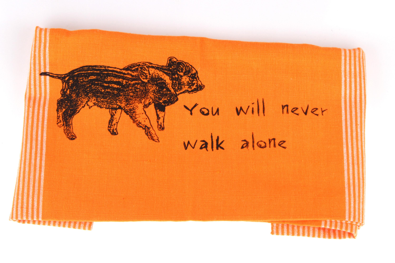 You will never walk alone Geschirrtuch orange von feinjemacht