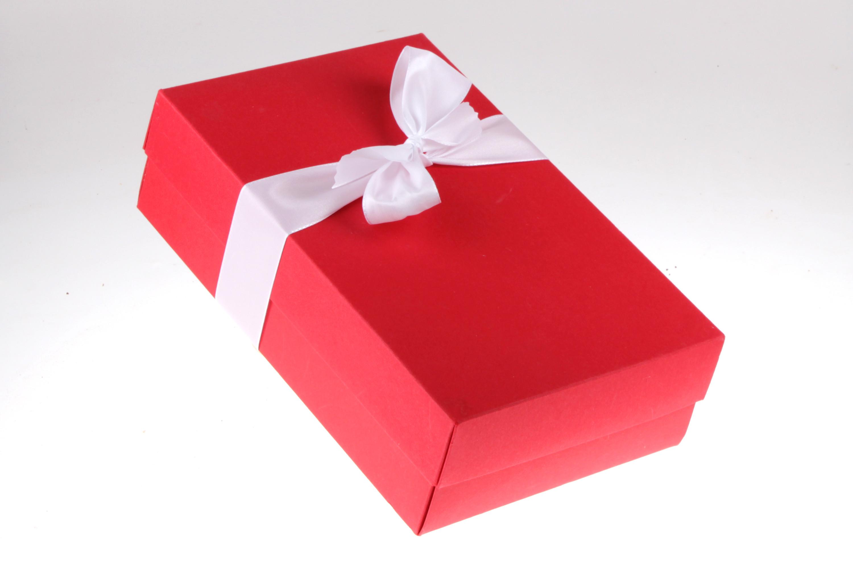 Weihnachts-Geschenkbox rot feinjemacht