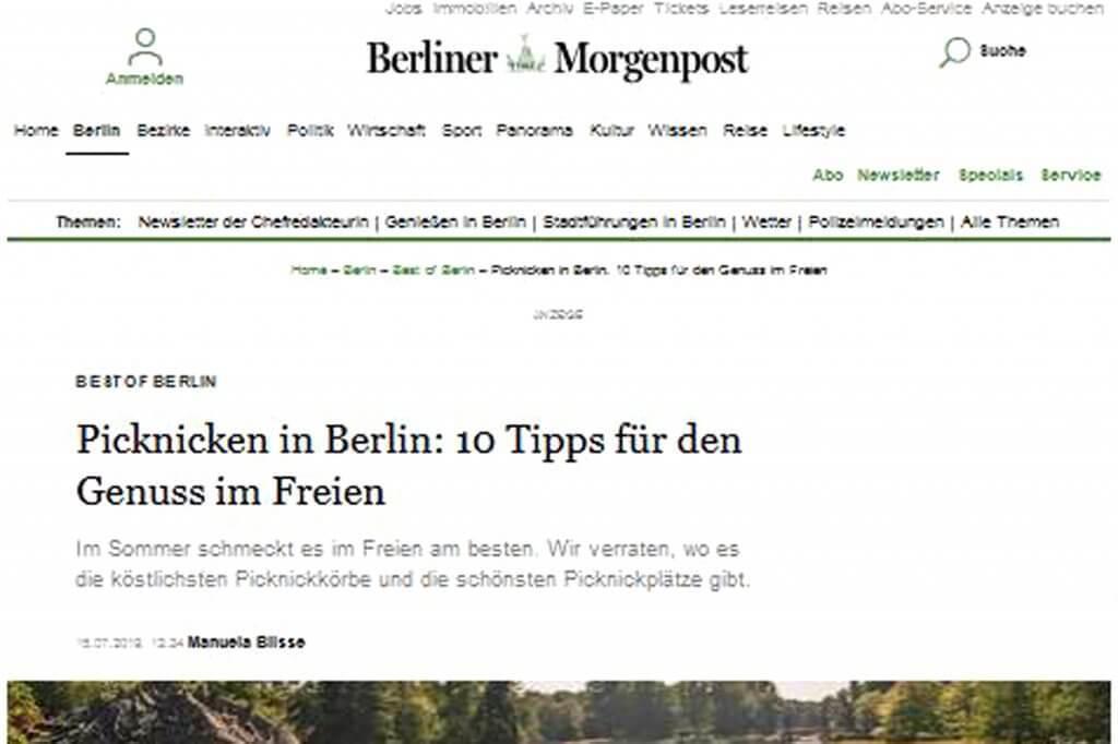 Berliner Morgenpost Presseartikel über feinjemacht