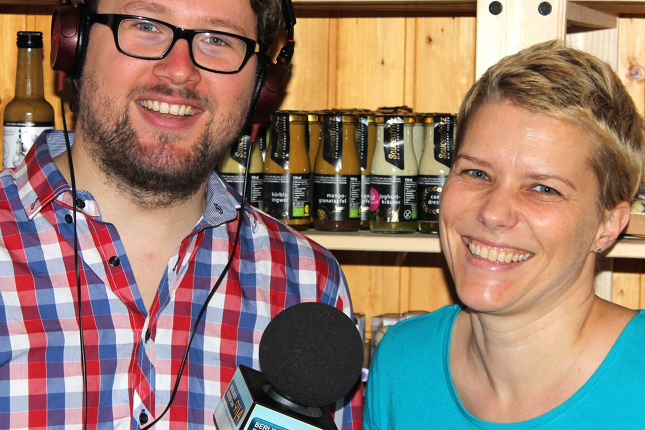 Radiointerview Berliner Rundfunk mit feinjemacht