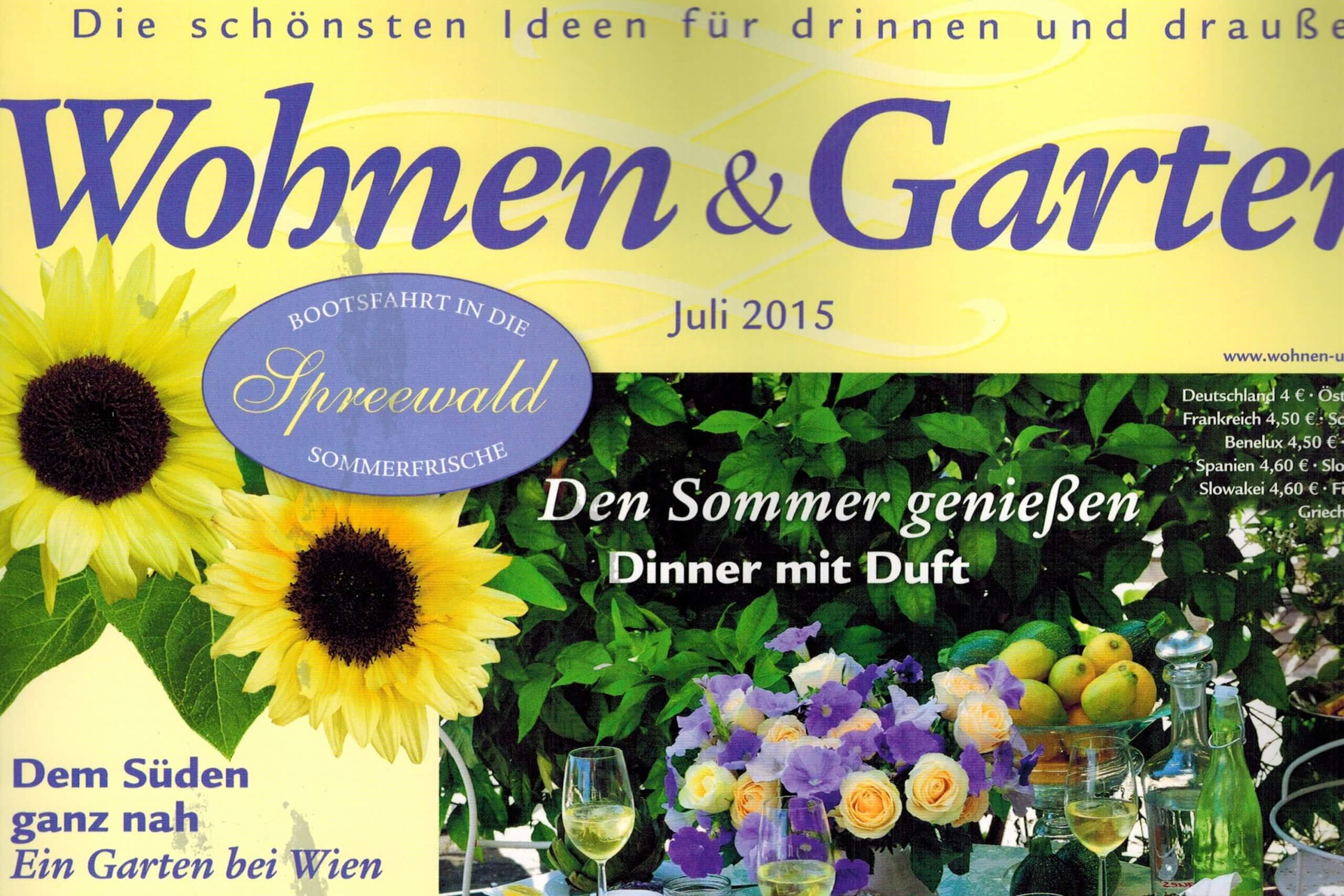 Wohnen und Garten Pressebericht ueber feinjemacht