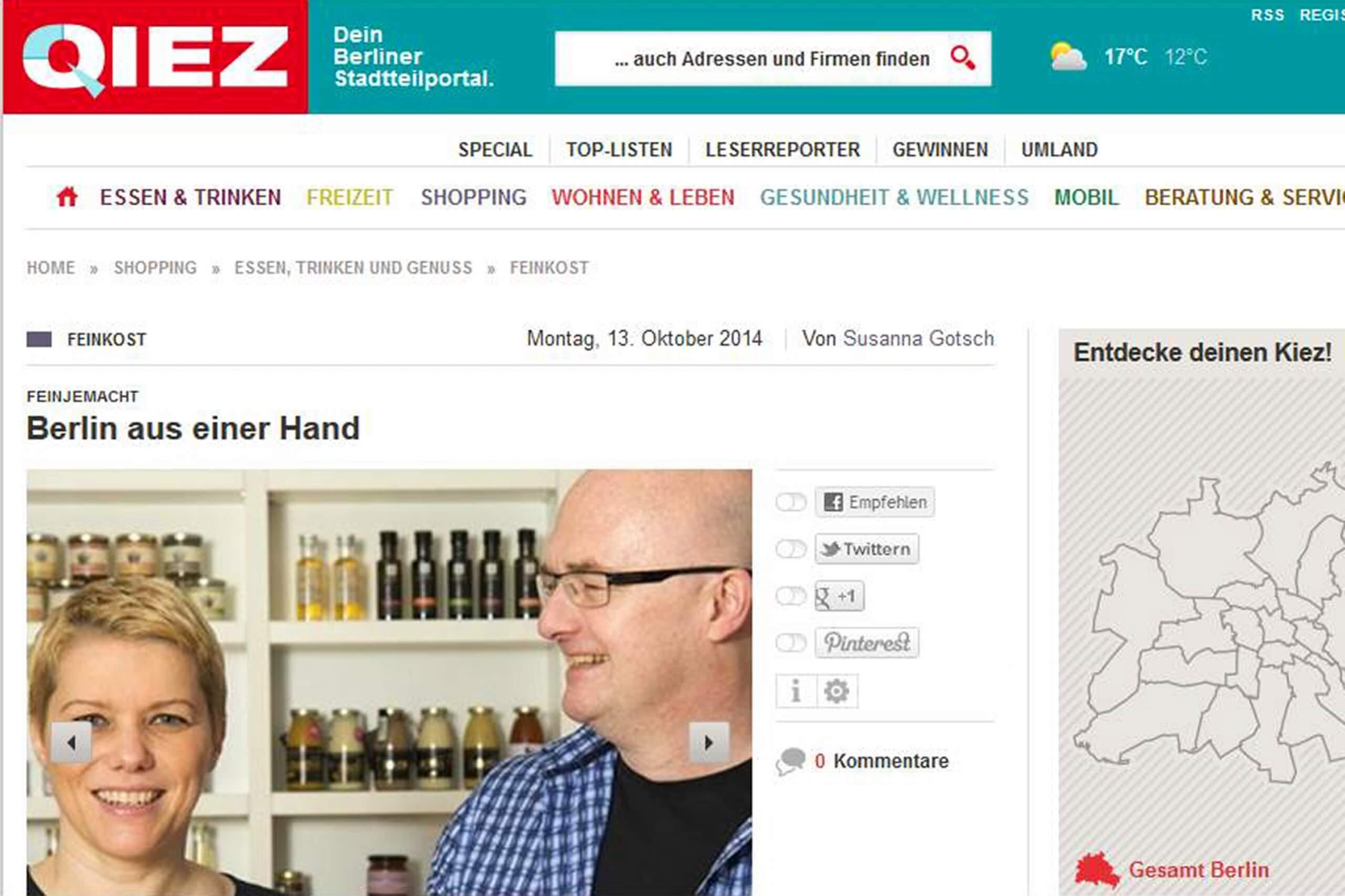 Interview von Quiz.de mit feinjemacht