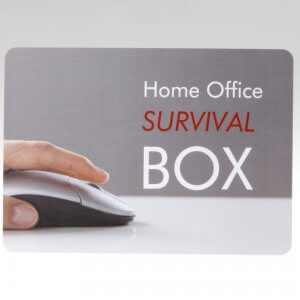 Home Office Survival Box Grusskarte von feinjemacht