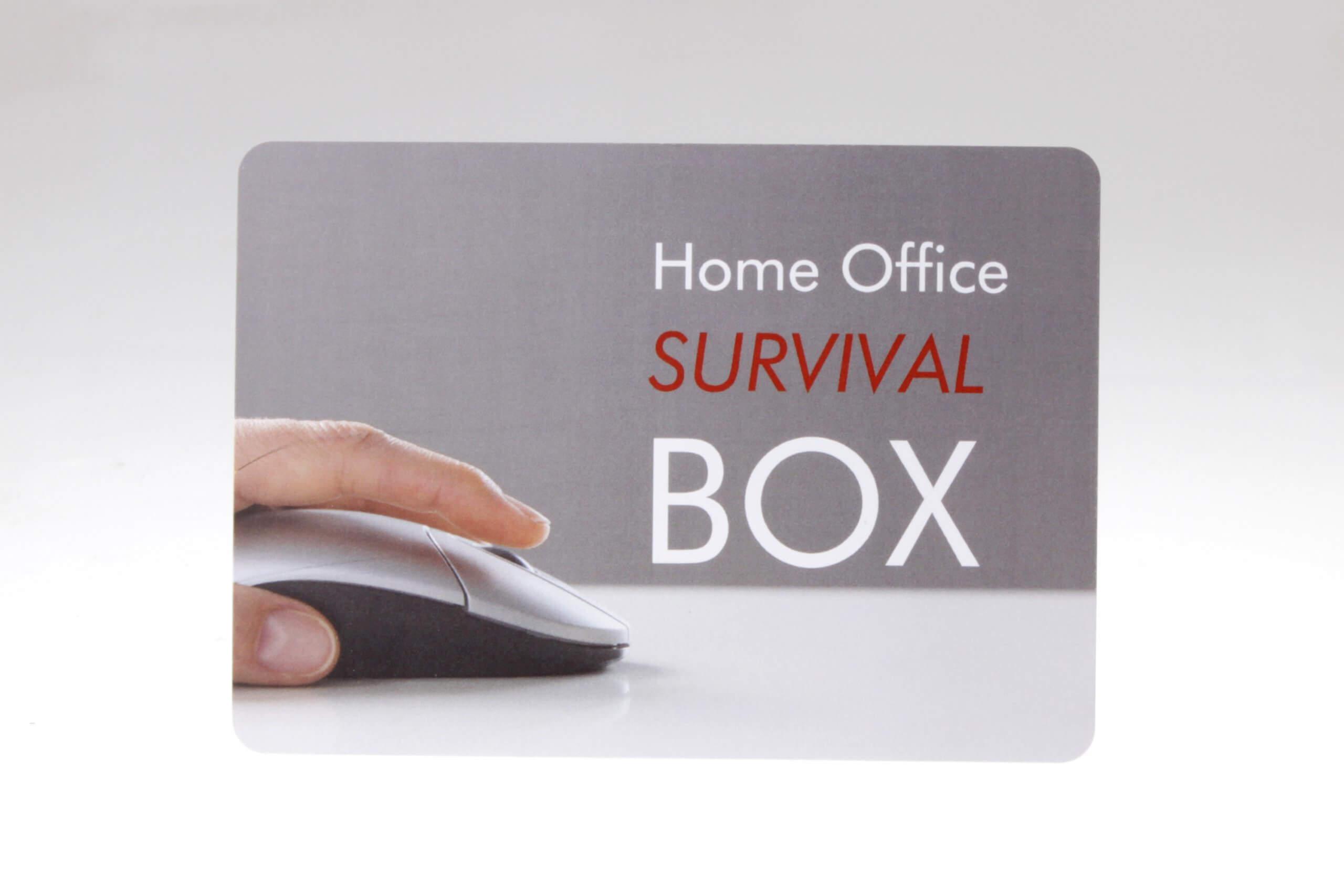 Home Office Survival Box Grusskarte von feinjemacht