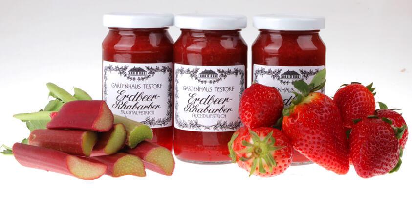 Erdbeer Rhabarber Fruchtaufstrich fb von feinjemacht