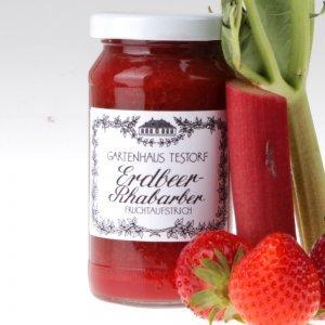 Erdbeer Rhabarber Fruchtaufstrich von feinjemacht