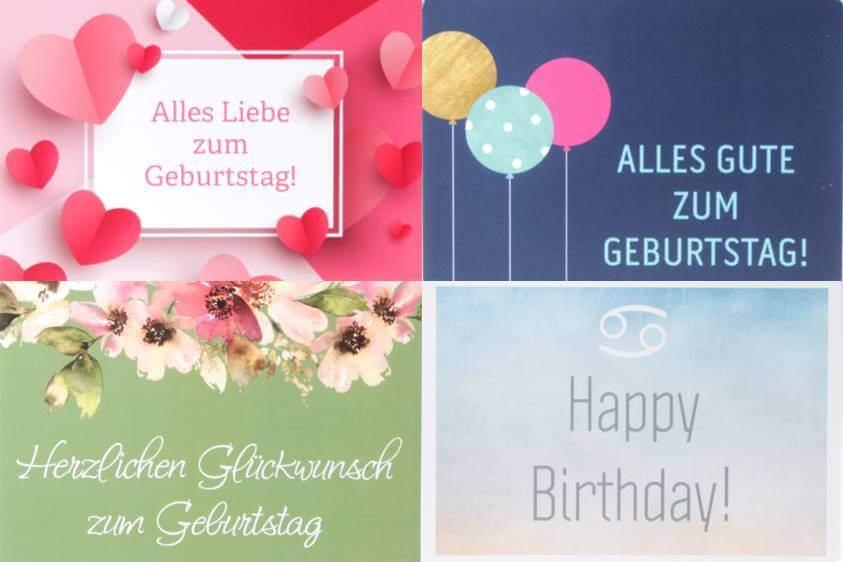Geburtstags Grusskarten von feinjemacht