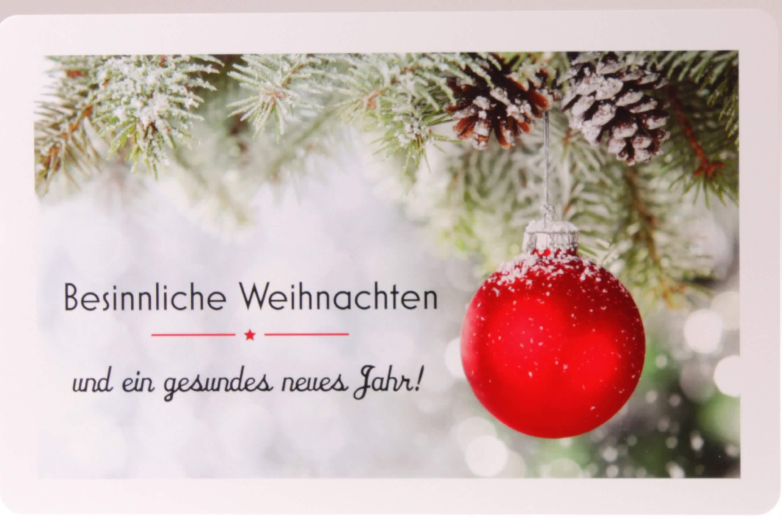 Besinnliche Weihnachten Grusskarte von feinjemacht