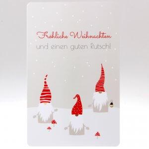 Fröhliche Weihnachten Grusskarte von feinjemacht