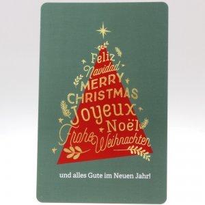 Weihnachtsbaum Grusskarte von feinjemacht