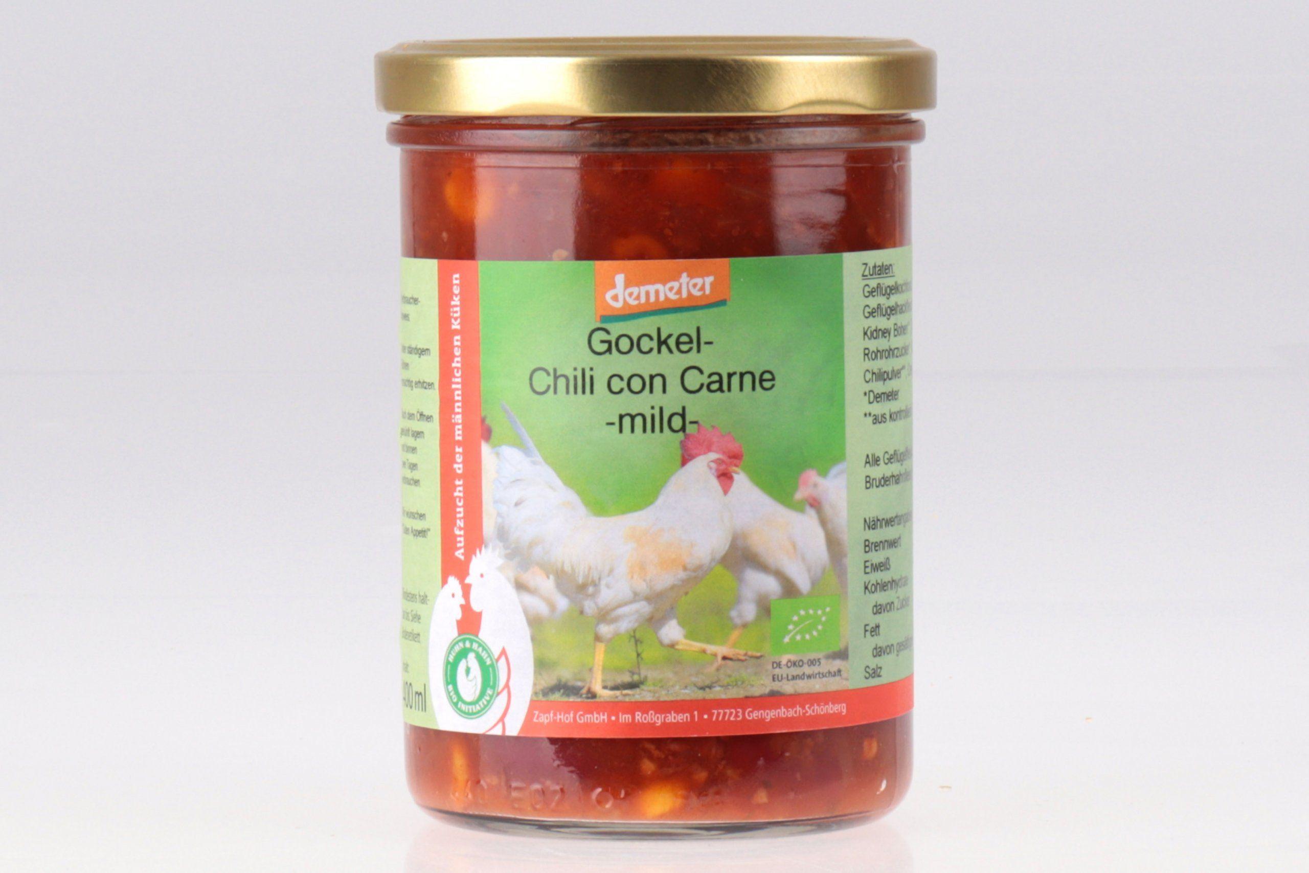 Gockel Chili con Carne Demeter von feinjemacht