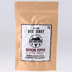 Supreme Pepper Beef Jerky von feinjemacht